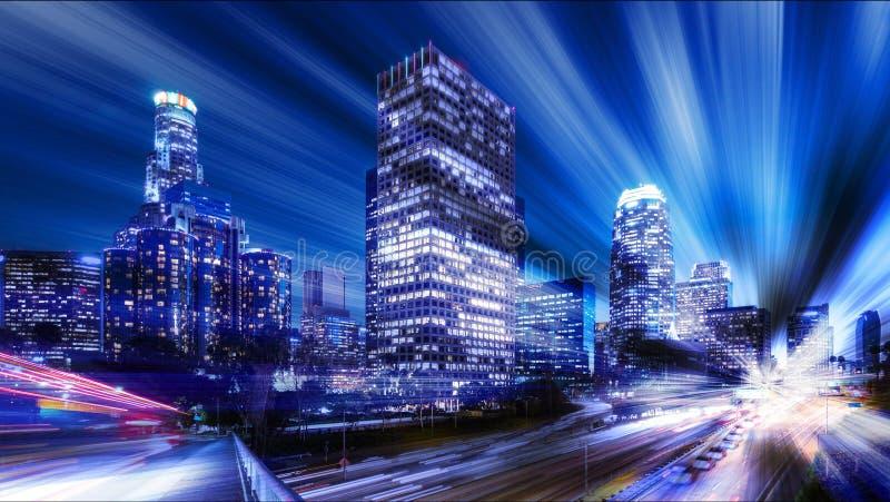 Cyfrowego abstrakt Los Angeles obrazy royalty free