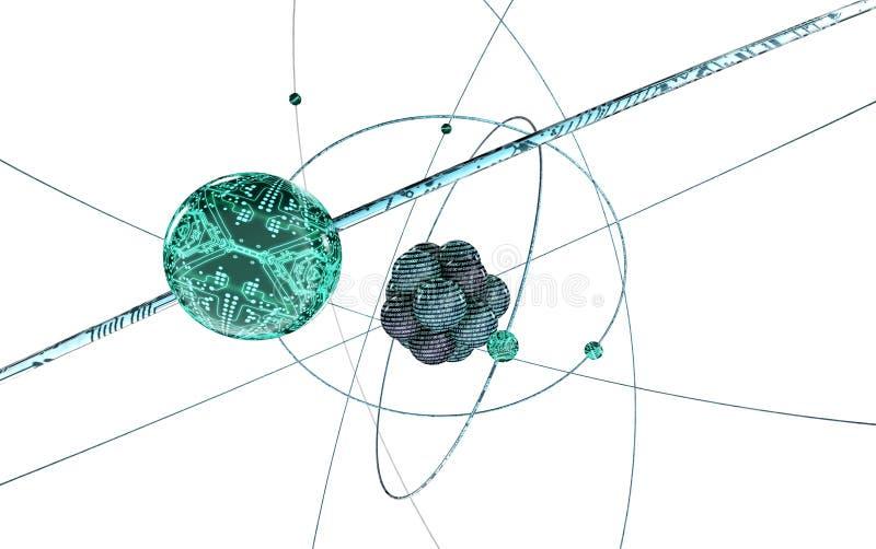 Cyfrowego atom na bielu obraz stock