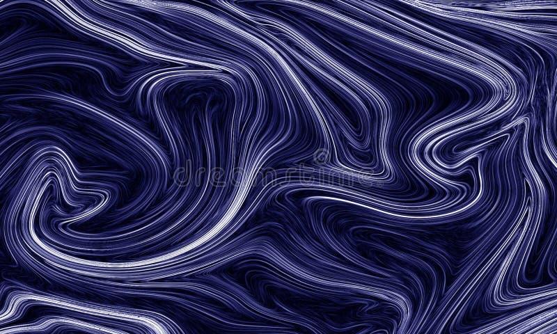 Cyfrowego błękitny abstrakcjonistyczny tło z upłynnia przepływ royalty ilustracja