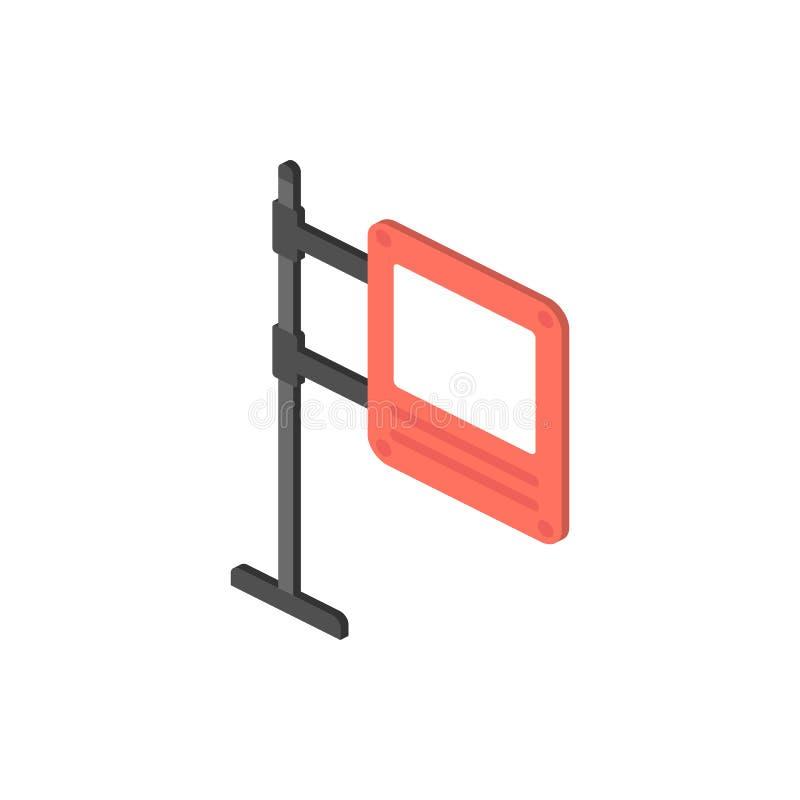Cyfrowego billboarda isometric ikona Element koloru drogowego znaka isometric ikona Premii ilości graficznego projekta ikona znak ilustracja wektor