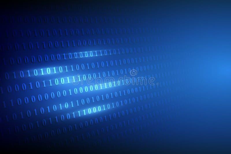 Cyfrowego binare kodu tło również zwrócić corel ilustracji wektora ilustracja wektor