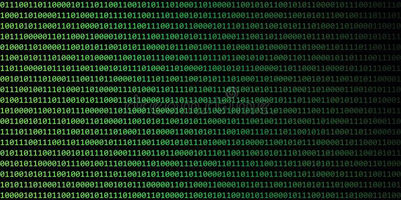 Cyfrowego binarnego kodu sieci technologii tła czerń i zieleń royalty ilustracja