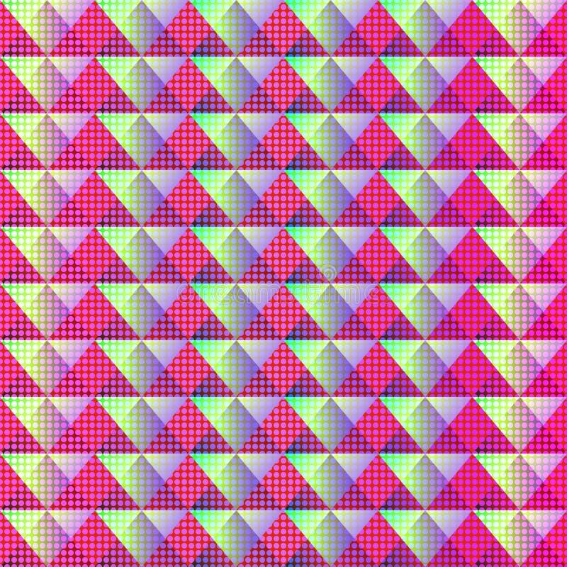 Cyfrowego geometryczny bezszwowy kolorowy wzór ilustracja wektor