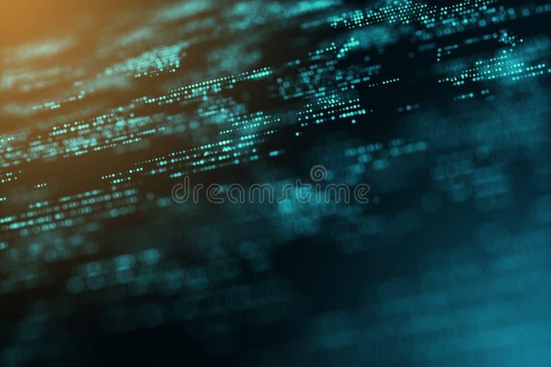 Cyfrowego graficzny komputer wytwarzał energetycznego ruch kopii przestrzeni plamy tło zdjęcia stock