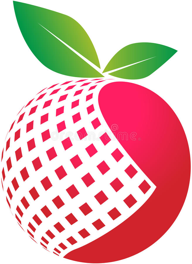 Cyfrowego jabłko ilustracja wektor