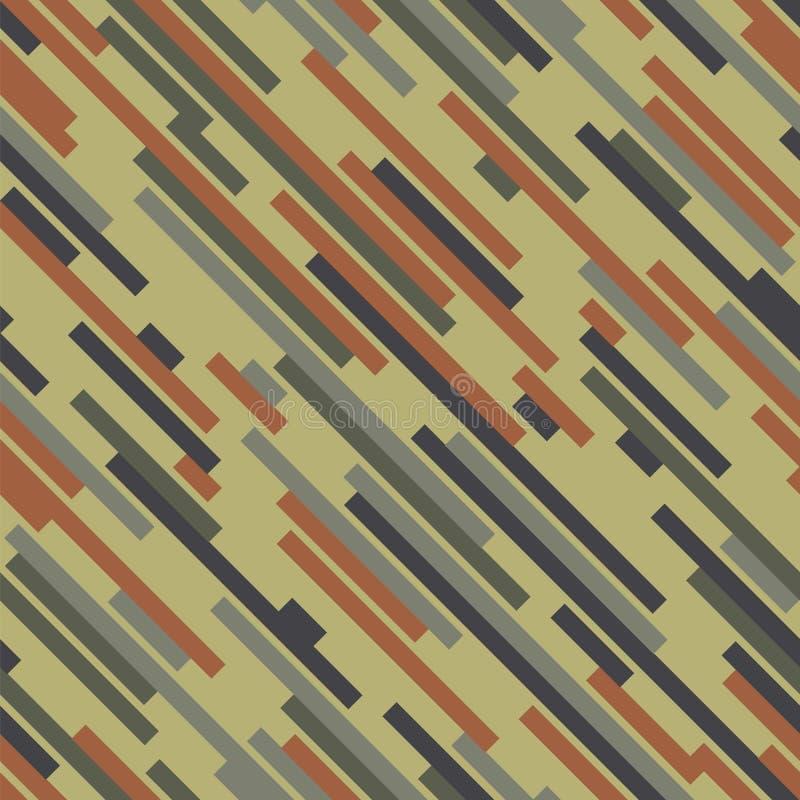 Cyfrowego kamuflaż Drewniany kolor wektor bezszwowy wzoru ilustracja wektor