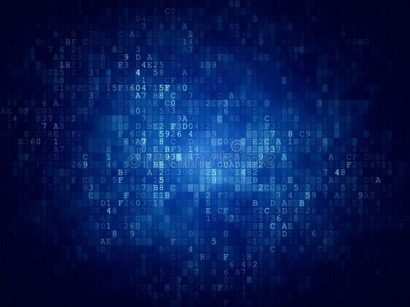 Cyfrowego kodu tło ilustracji