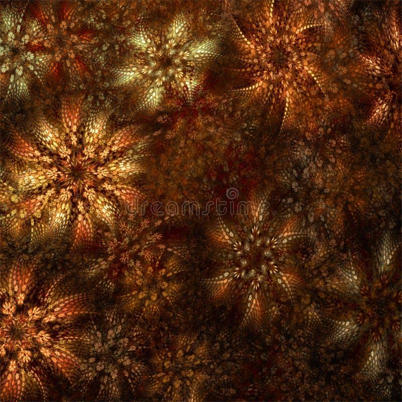 Cyfrowego komputeru fractal sztuki abstrakcjonistycznych fractals romantyczny 3d dywan royalty ilustracja