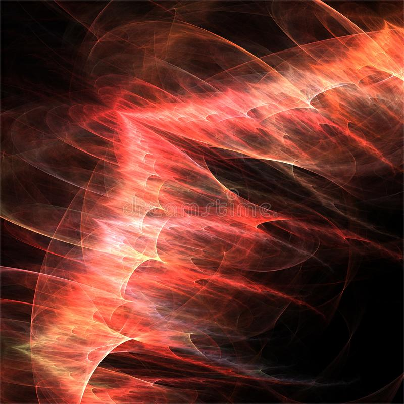 Cyfrowego komputeru fractal sztuki fractals czerwieni abstrakcjonistyczny smok royalty ilustracja
