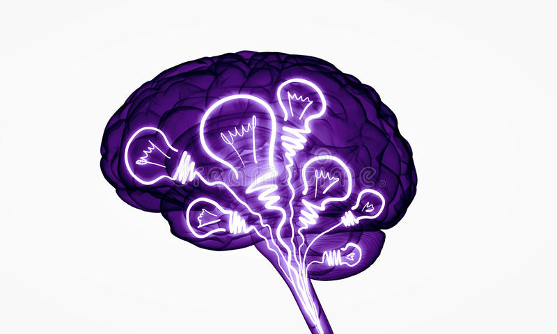 Cyfrowego ludzki mózg ilustracji