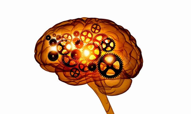 Cyfrowego ludzki mózg ilustracja wektor