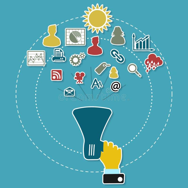 Cyfrowego marketing ilustracji