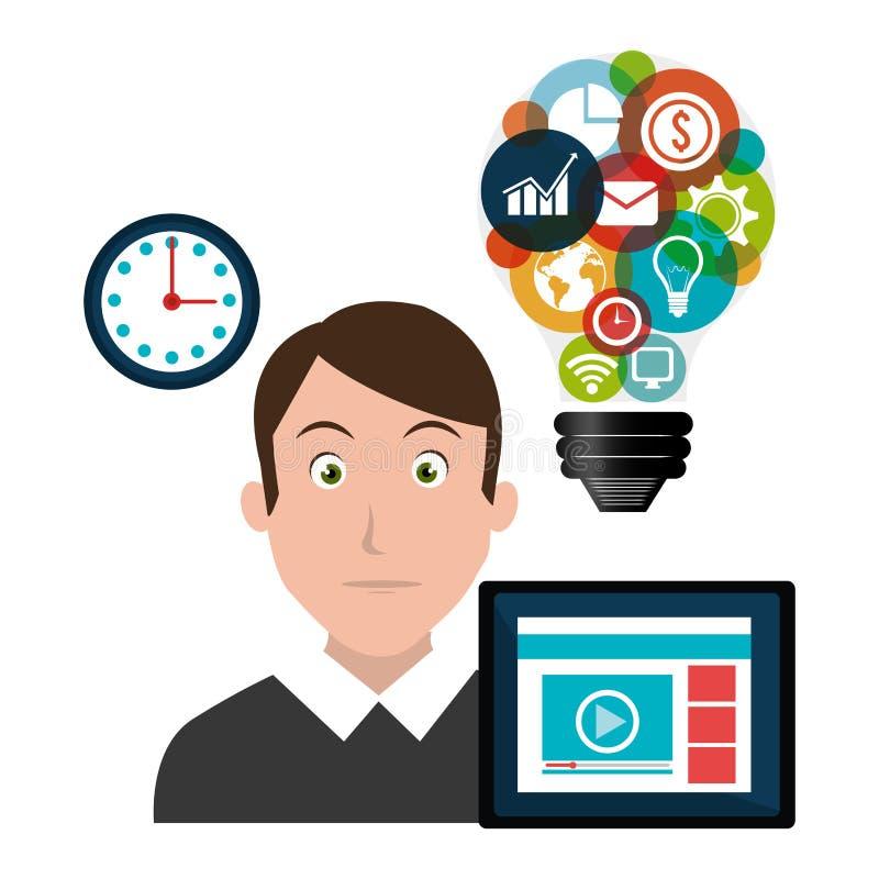 Cyfrowego marketing i reklamowe ikony ilustracji