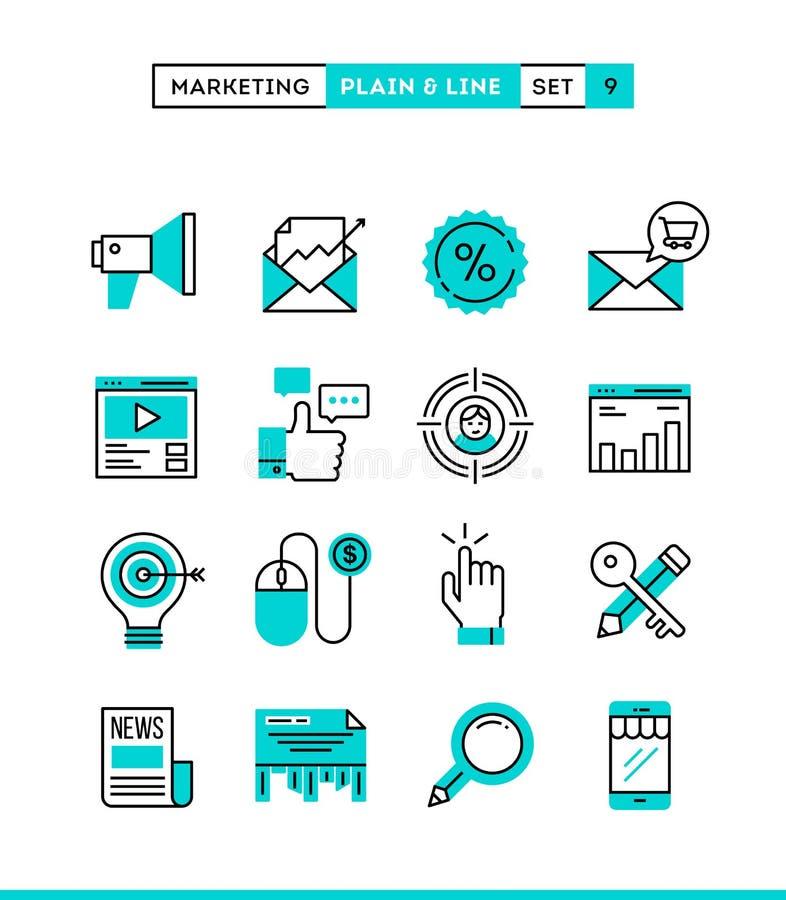 Cyfrowego marketing, online biznes, cel widownia, wynagrodzenie na cli royalty ilustracja