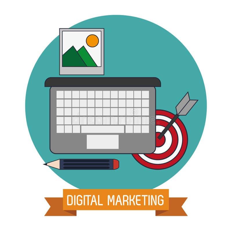 Cyfrowego marketingu celu wiedzy handel ilustracji