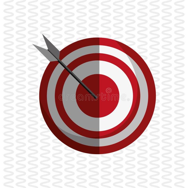 Cyfrowego marketingu projekt Cel ikona Multimedialny pojęcie ilustracja wektor