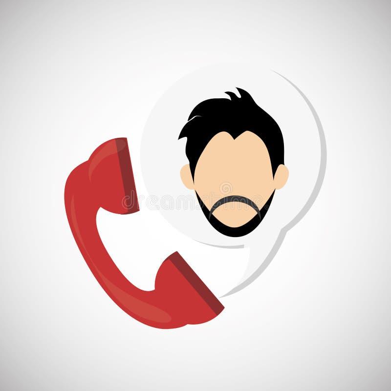 Cyfrowego marketingu projekt czarny komunikacji koncepcji odbiorców telefon Kolorowy illust, wektorowa grafika royalty ilustracja
