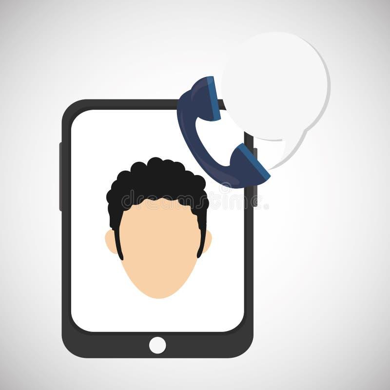 Cyfrowego marketingu projekt czarny komunikacji koncepcji odbiorców telefon Kolorowy illust, wektorowa grafika ilustracja wektor