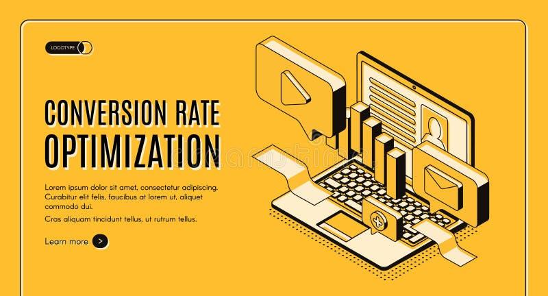 Cyfrowego marketingu usługi isometric wektorowa strona internetowa ilustracji