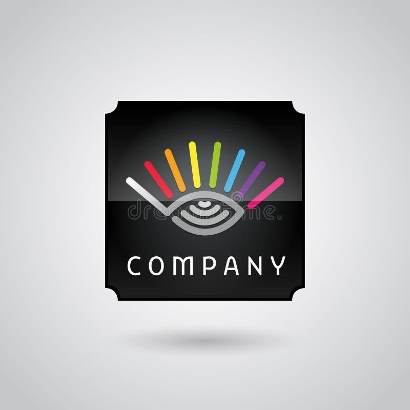 Cyfrowego monitorowanie usługa logo royalty ilustracja