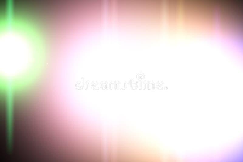 Cyfrowego obiektywu raca, słońce wybuch na czarnym tle obrazy stock