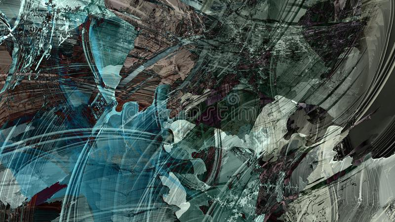 Cyfrowego obraz tekstura organicznie materiału fluidu w zawiły sposób deseniowy tło ilustracja wektor
