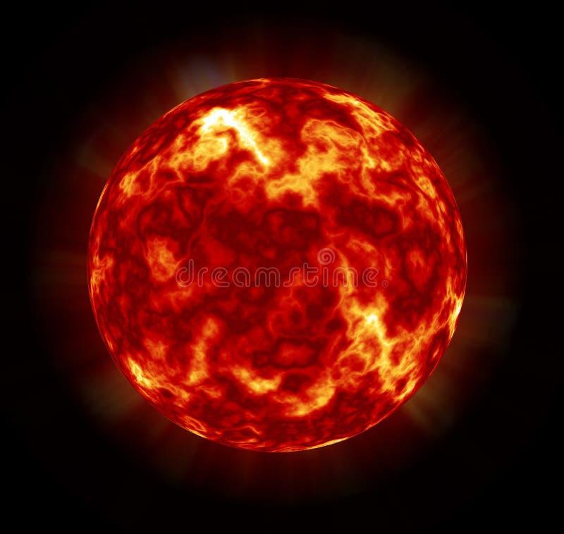 Cyfrowego obrazu galaktyki Abstrakcjonistyczny tło - Nowonarodzony gwiazdy lub zakończenia słońce ilustracja wektor