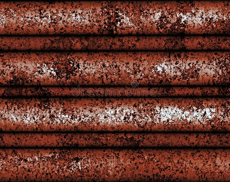 Cyfrowego obrazu metalu Abstrakcjonistyczna Stara płytka z Brudnym Zrudziałym tłem ilustracja wektor
