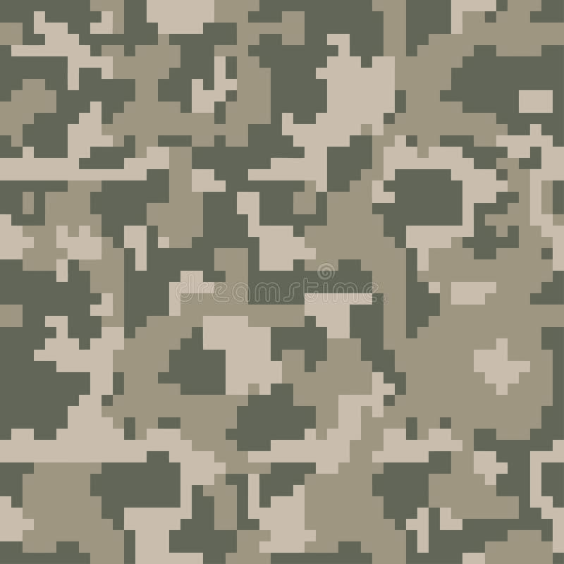 Cyfrowego piksla zieleni kamuflażu bezszwowy wzór dla twój projekta Ubraniowy wojskowy projektuje royalty ilustracja