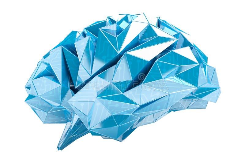 Cyfrowego promieniowania rentgenowskiego ludzkiego mózg 3D rendering royalty ilustracja