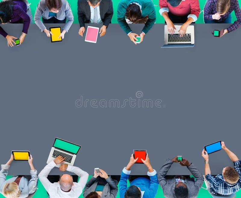 Cyfrowego przyrządu technologii bezprzewodowej Online Internetowa komunikacja obrazy stock