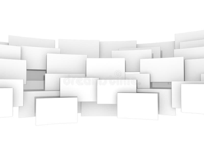 Cyfrowego pustego miejsca 3d kwadraty ilustracja wektor