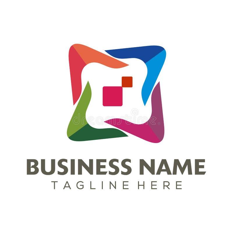 Cyfrowego reklamowy logo i ikona projekt royalty ilustracja