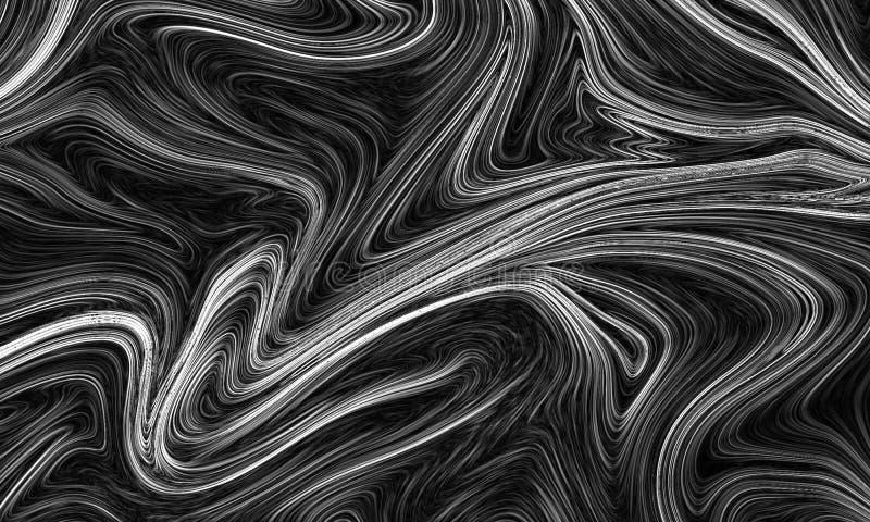 Cyfrowego szary abstrakcjonistyczny tło z upłynnia przepływ ilustracji