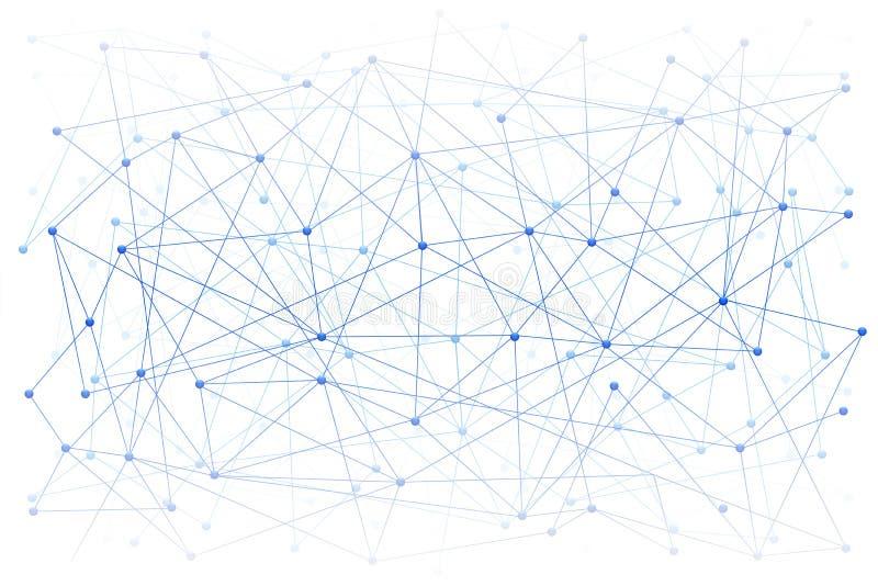 Cyfrowego tło nauka lub Blockchain