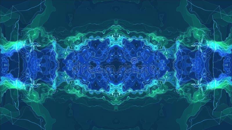 Cyfrowego t?a ilo?ci symetrycznej energetycznej neonowej b?yszcz?cej ilustracyjnej nowej unikalnej sztuki elegancki kolorowy rado zdjęcie royalty free