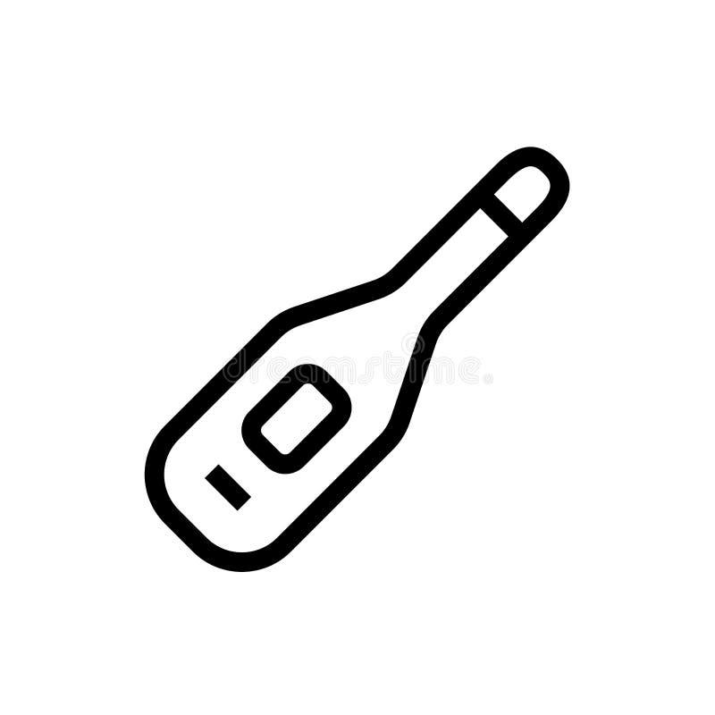 Cyfrowego termometru ikony nowożytnego projekta narzędzia symbolu gorąca szalkowa miara kreskowej sztuki opieki zdrowotnej medycz ilustracja wektor