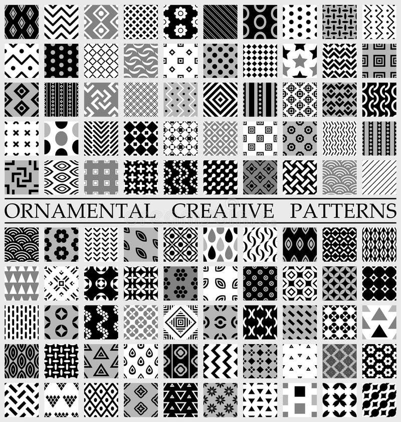 Cyfrowego wektorowy czarny i biały geometryczny ilustracja wektor