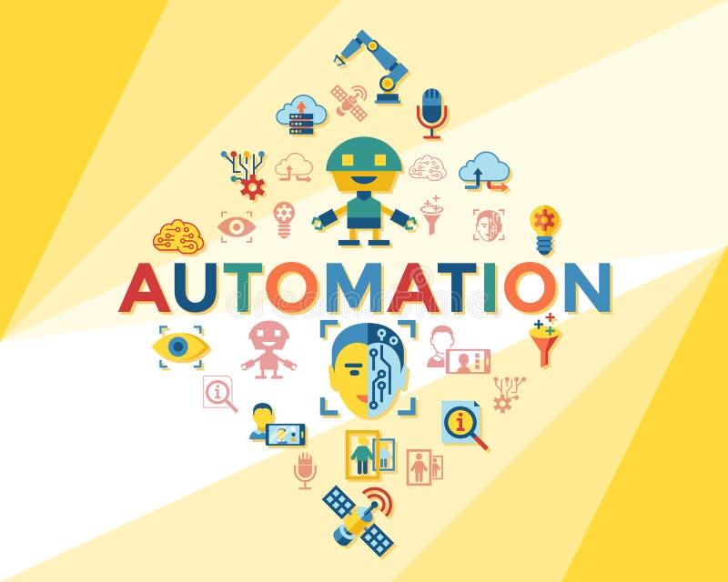 Cyfrowego wektorowy maszynowy uczenie ilustracji