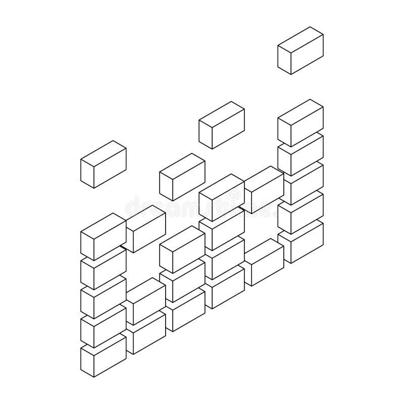 Cyfrowego wyrównywacza ikona, isometric 3d styl royalty ilustracja