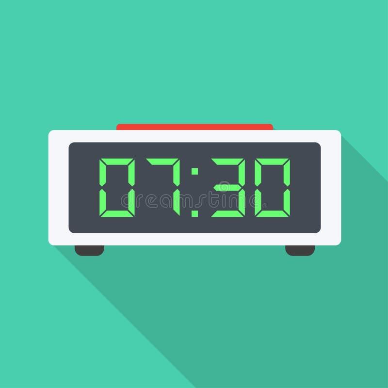 Cyfrowego zegaru mieszkania ikona ilustracji