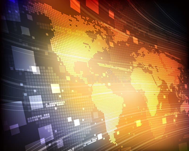 Cyfrowej Światowa mapa royalty ilustracja