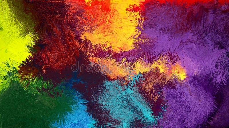 Cyfrowej abstrakcjonistycznej sztuki kolorowy abstrakcjonistyczny tło obrazy royalty free