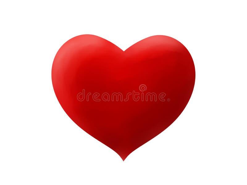 Cyfrowej akwareli ręka Rysujący serce obrazy royalty free