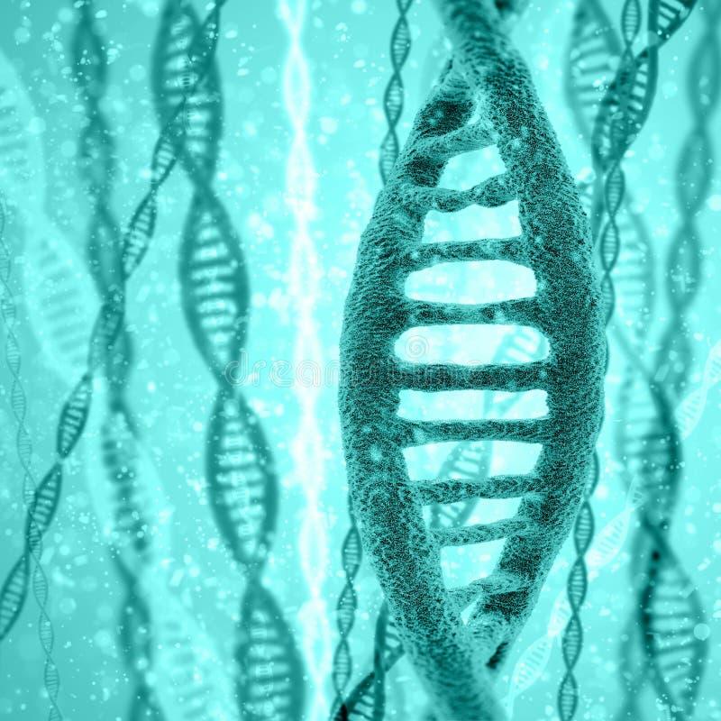 Cyfrowej ilustraci DNA struktura royalty ilustracja