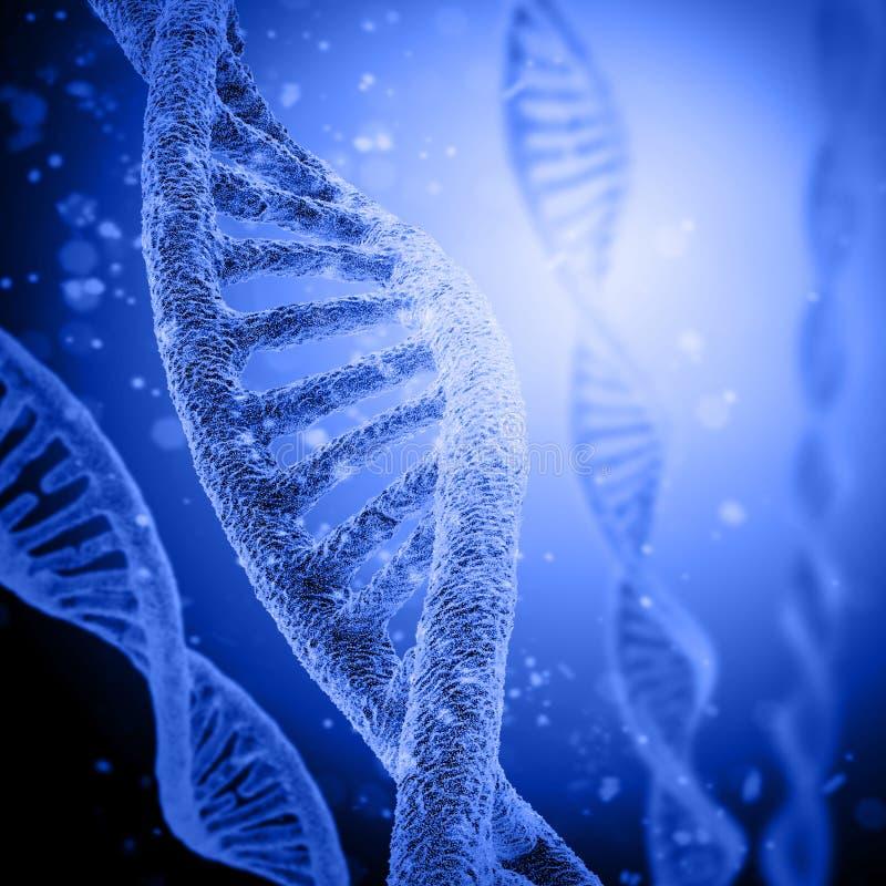 Cyfrowej ilustraci DNA struktura ilustracji