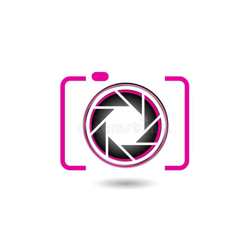 Cyfrowej kamery fotografii logo royalty ilustracja