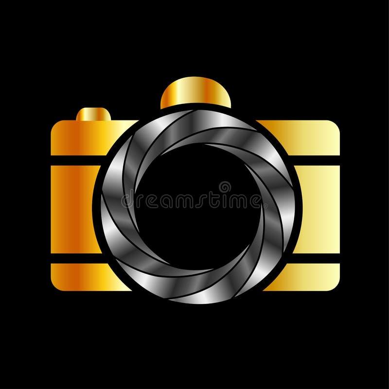 Cyfrowej kamery fotografii logo ilustracji