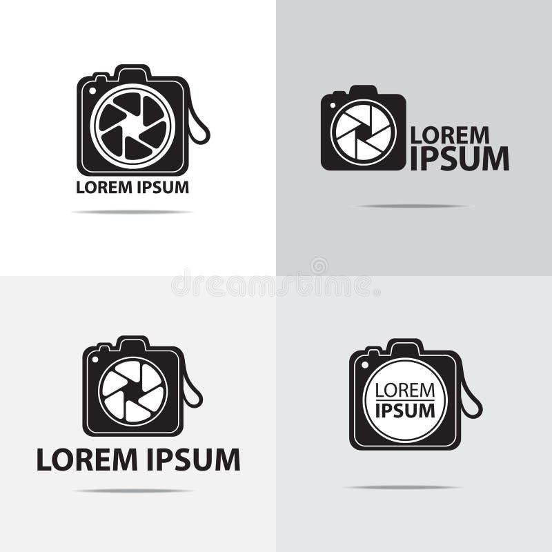 Cyfrowej kamery loga projekt ilustracja wektor