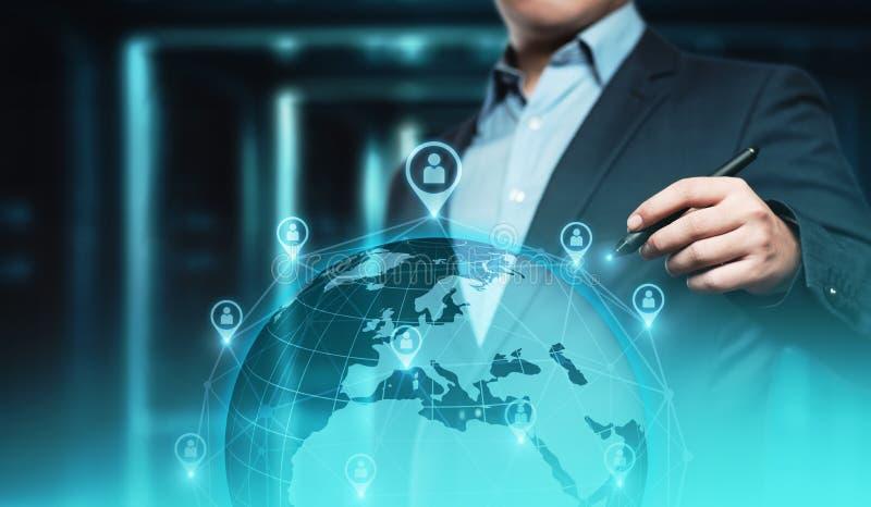 Cyfrowej kuli ziemskiej sieci interneta technologii międzynarodowy biznesowy pojęcie obraz stock
